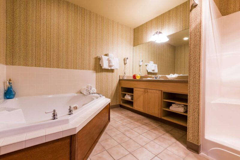 Jacuzzi Tub in your room at the Inn at Cannon Beach