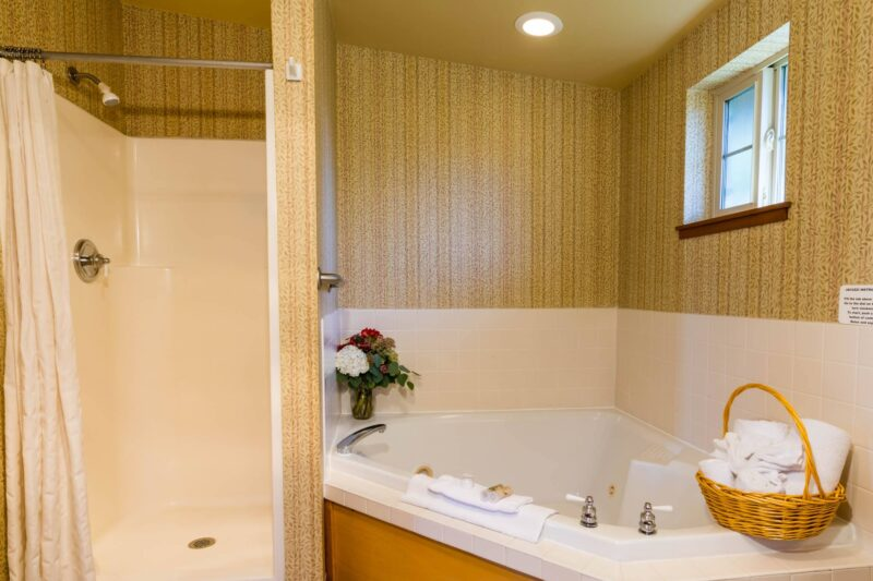 Spa bathroom in your room at the Inn at Cannon Beach