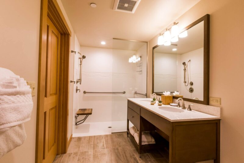 Beautiful bathroom in your King Studio room