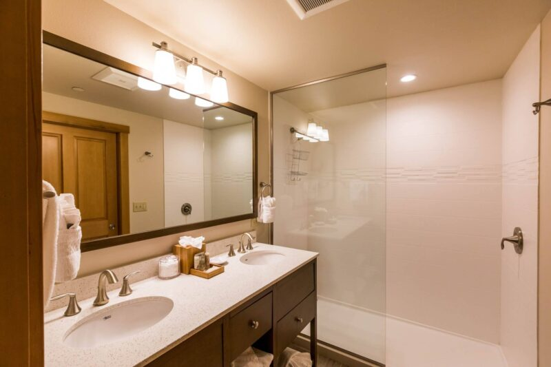 Hotel bathroom at your stay in Cannon Beach