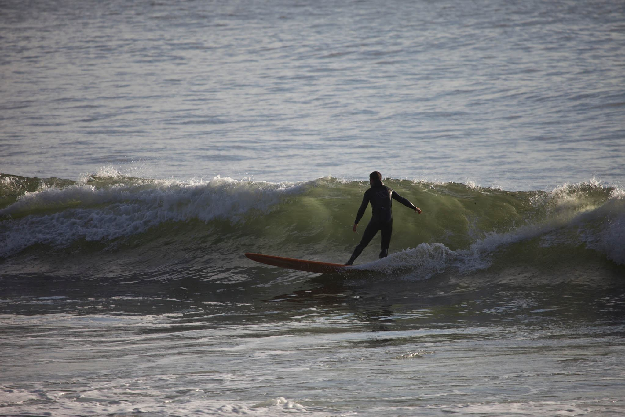 Surfing in Cannon Beach, Oregon