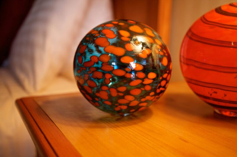 Glass ball art accents in your room