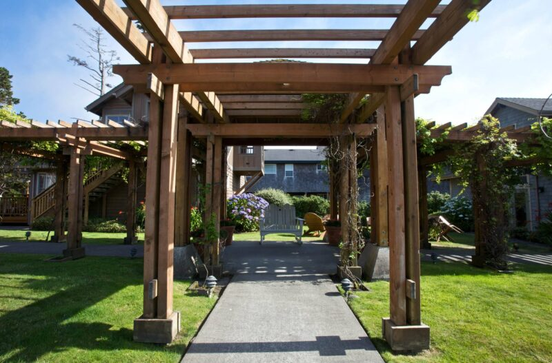Garden setting at the Inn at Cannon Beach