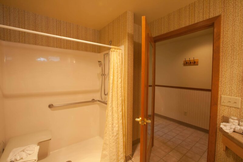 Shower in our ADA room