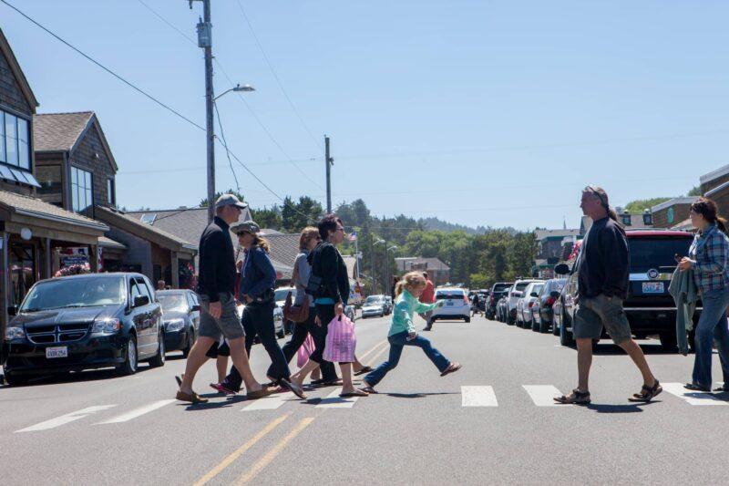 Walking downtown Cannon Beach, Oregon