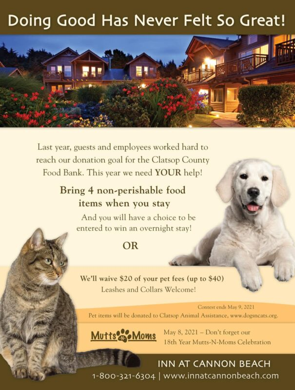 Inn at Cannon Beach poster for a pet event